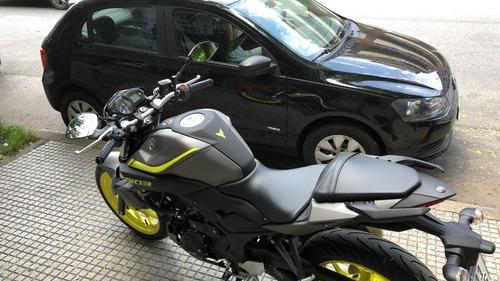 yamaha mt 03 gris/amarilla no duke,dominar,ninja