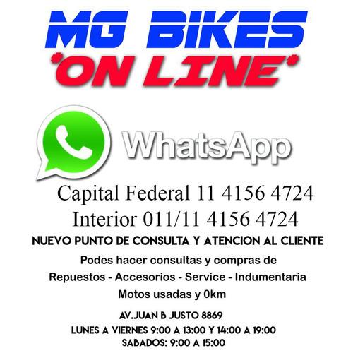 yamaha mt 07 2017 17360 km impecable único dueño mg bikes