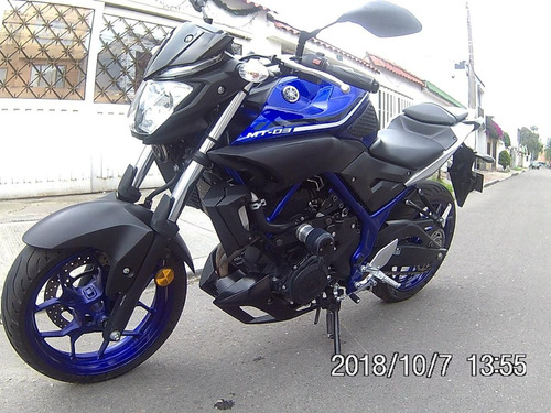 yamaha mt03 2018 azul 11mil kms impecable