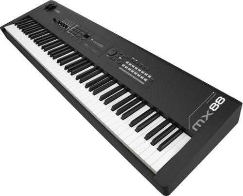 yamaha mx88bk teclado sintetizador portátil de 88 teclas