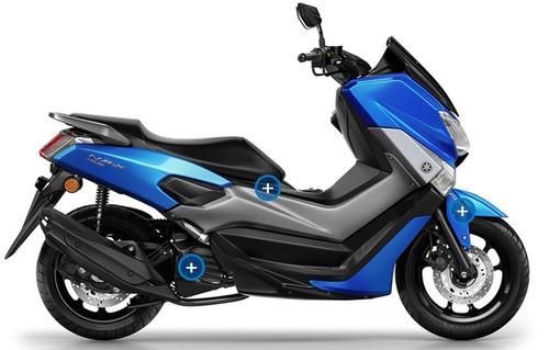 yamaha n max scooter nm-x 155 150