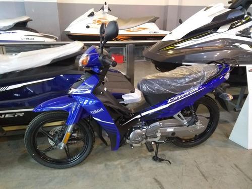 yamaha new crypton full 110 azul 2018 - mg bikes!