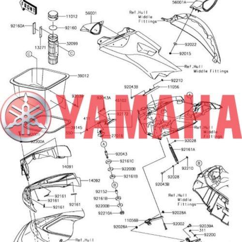 yamaha  oem original disco freno trasero banshee 5fk2582w00