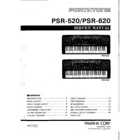 Yamaha Psr 520  Psr 620 Esquema Elétrico / Manual De Serviço