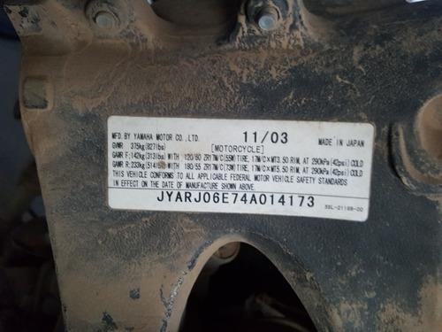 yamaha  r6 motor 600 cc 2003 solo venta de partes