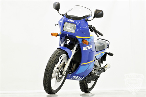 yamaha rd 350 1990 90 - moto antiga - viuva negra - azul