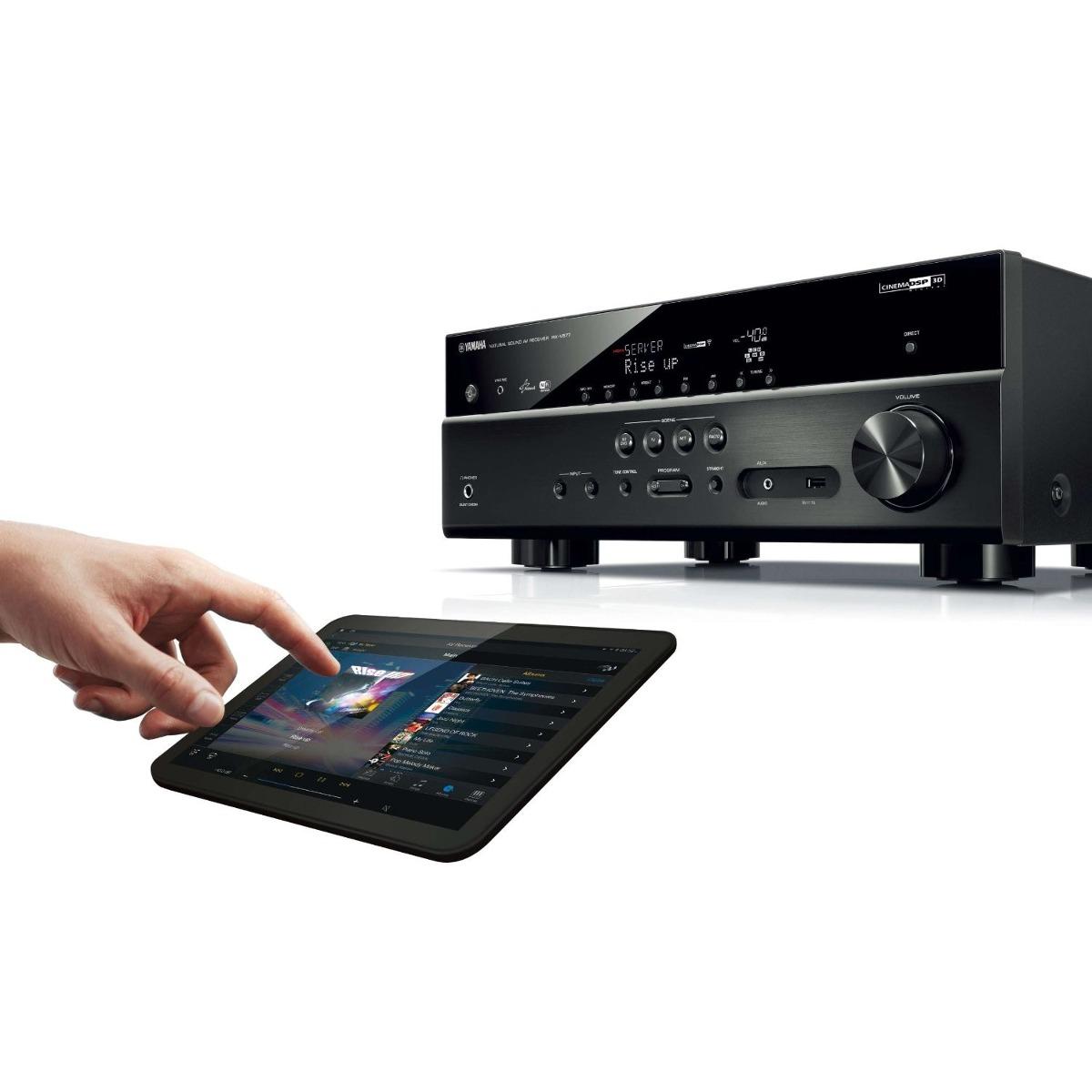 Yamaha rx v577 7 2 channel wi fi network av receiver for Yamaha rx v675 7 2 channel network av receiver with airplay