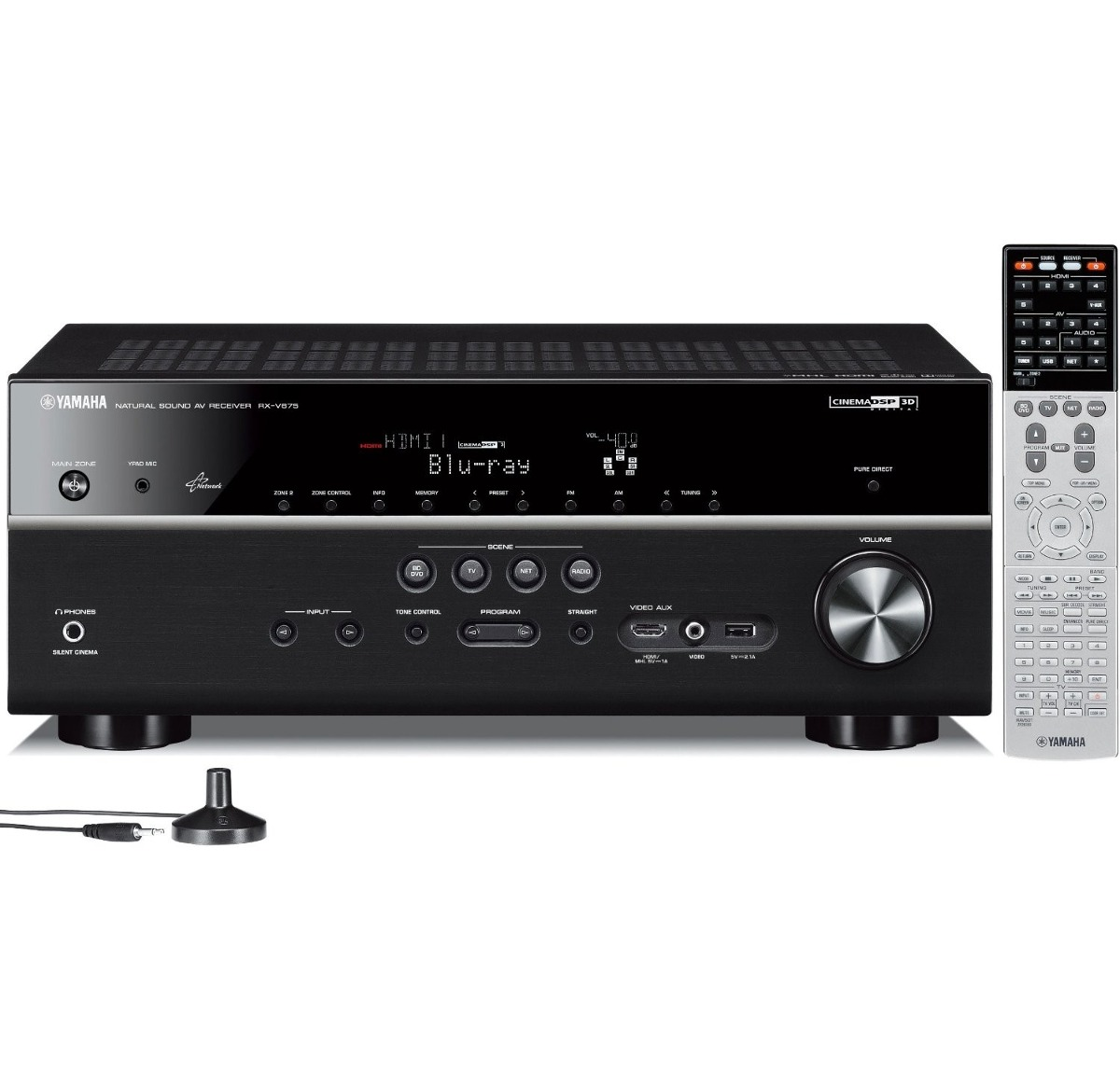 yamaha rx v675 7 2 channel network av receiver con airplay