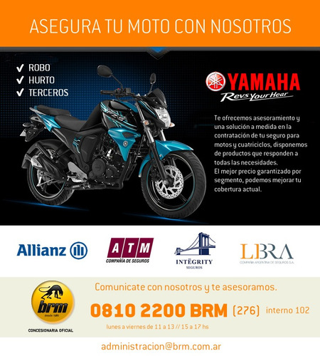 yamaha scooter ray zr 0km anticipo $ 10.000 y 18 cuotas !