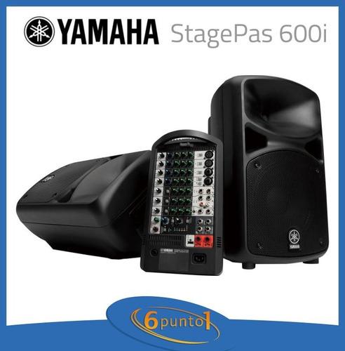yamaha stagepas 600i sistema de sonido portátil - 6 ctas s/i