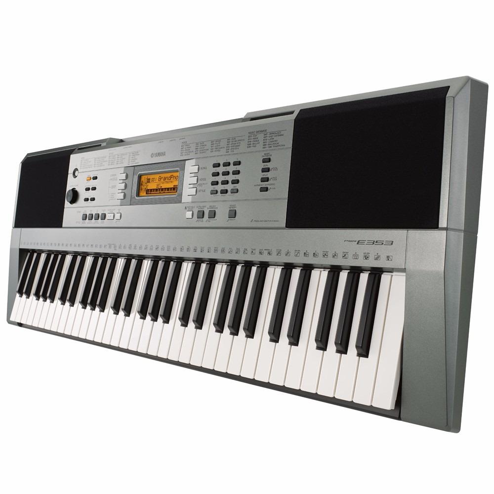 teclado musical arranjador yamaha e353 61 tecla fonte gr tis r em mercado livre. Black Bedroom Furniture Sets. Home Design Ideas