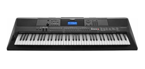 yamaha teclado organo psr e463 sensitivo + fuente+pie+funda