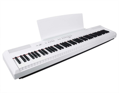 yamaha teclado piano digital 88 teclas p115 blanco 12 msi