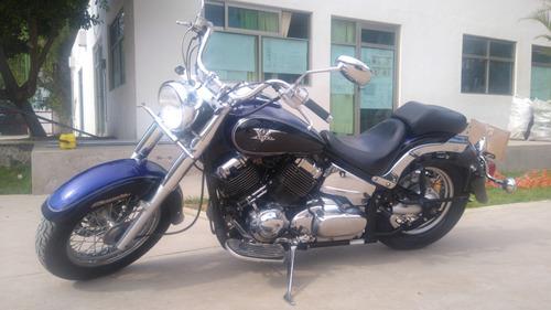 yamaha v star 650 - 2007, azul con negro comoda y economica