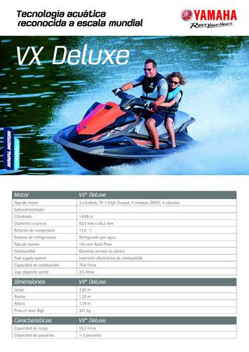yamaha - vx deluxe, nueva 0 hs, garantía 1 año