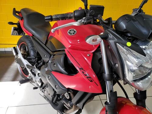 yamaha xj6 n   vermelha - 2012 - km 21 000