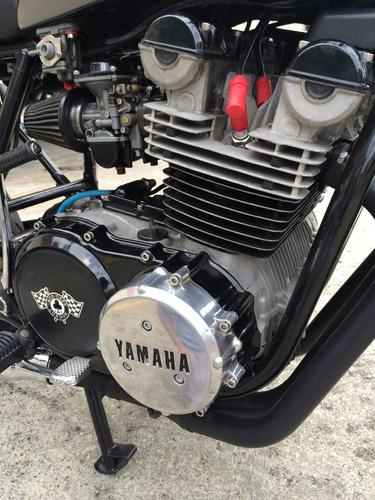 yamaha xs750 modelo 1977 cafe racer, 3 cilindros, clasica