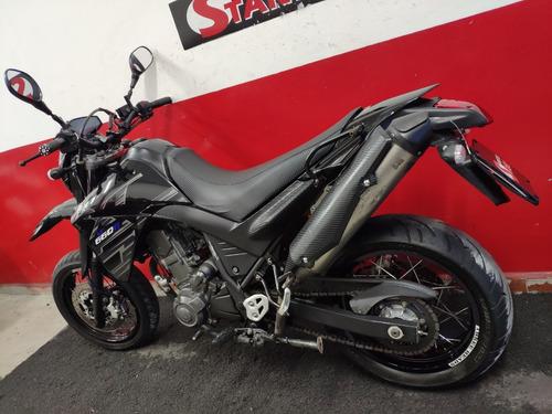 yamaha xt 660r 660 r xt660r motard 2009 preta preto