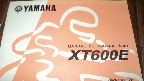 yamaha xt600e ano 2002 manual proprietario