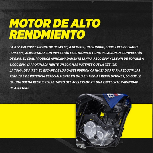 yamaha xtz 150cc