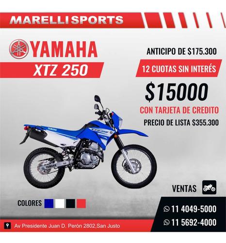 yamaha xtz 250 12 cuotas sin interés disponible en marelli