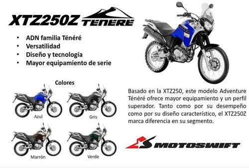 yamaha xtz 250 z tenere  0km 2018