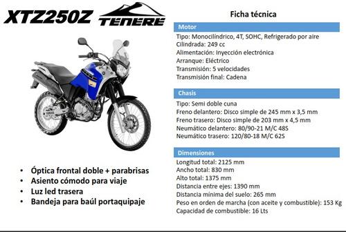 yamaha xtz 250z tenere  0km 2018 en motoswift