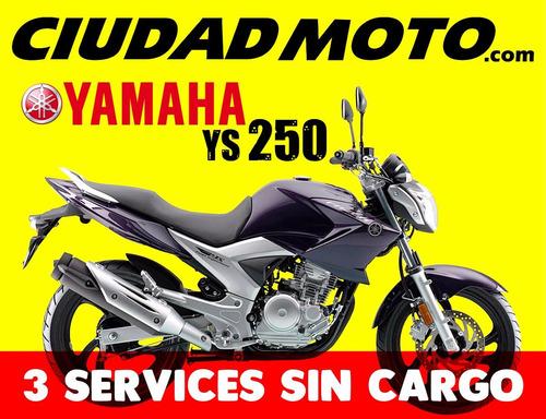 yamaha ys 250cc - 3 services sin cargo - en ciudad moto