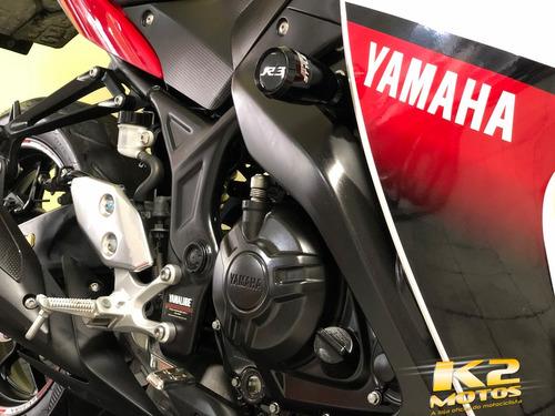 yamaha yzf r3 321cc impecável branco c/ vermelho c/acessório