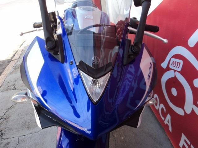 yamaha yzf r3-abs 2016 azul alessandro motos jundiai
