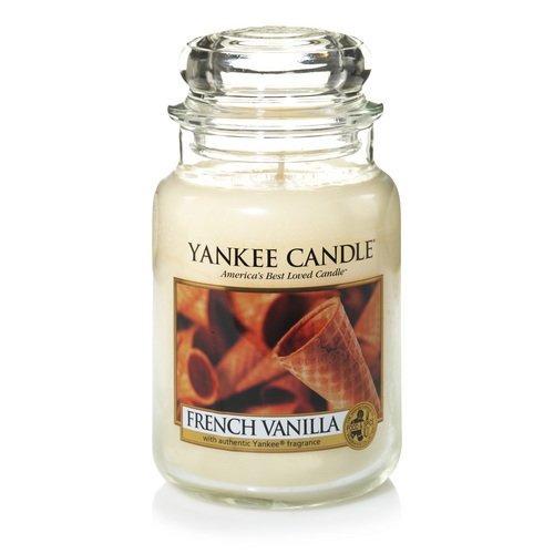 yankee candle company vainilla de vaso grande francés vela