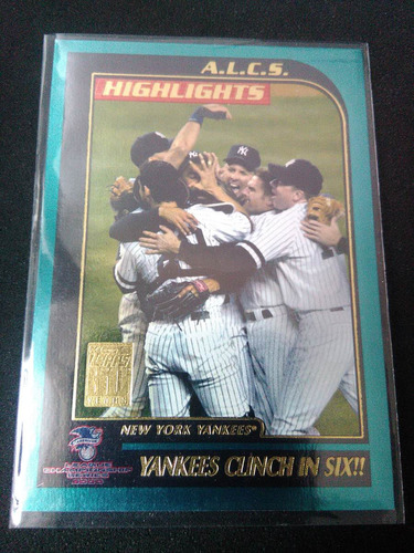 yankees clinch in six foto:derek jeter,posada topps2000 #405
