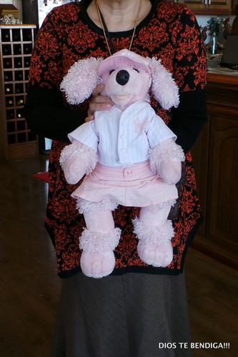 yankees new york poodle build a bear peluche 50cm.