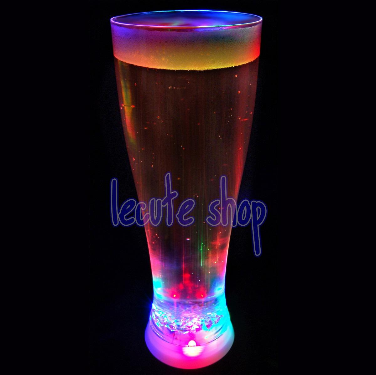 Yarda vaso luminoso led luz multicolor fiesta bar rave for Vasos para bar