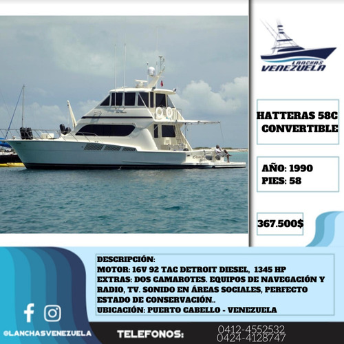 yate hatteras 58c convertible flight bridge lv397