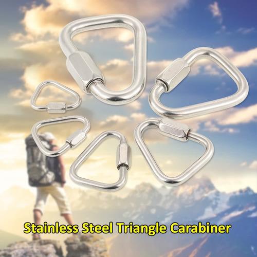 ybluedofhin mosquetón triángulo de acero inoxidable l