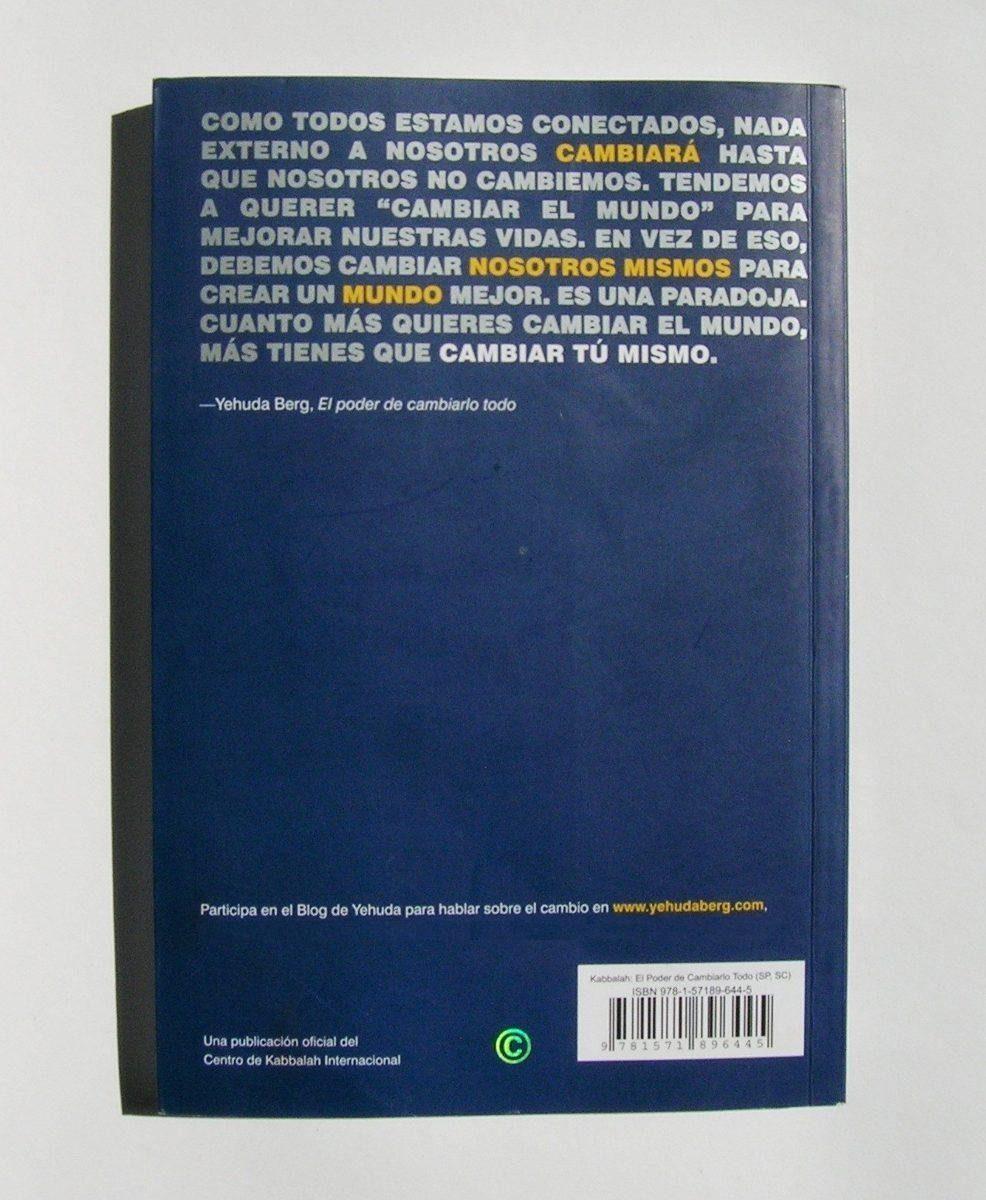 yehuda berg kabbalah el poder de cambiarlo todo libro 2013. Cargando zoom.