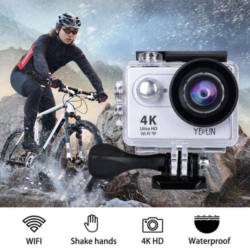 yelin wifi cámara de acción (plata) 4pilas k25, 1080p60170gr