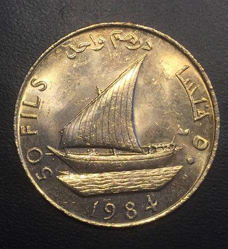 yem012 moneda yemen rep dem. 50 fils 1984 unc ayff