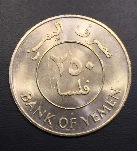 yem015 moneda yemen rep dem. 250 fils 1981 unc-bu ayff