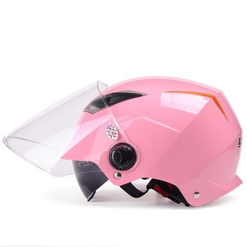 yema modelo 325 casco de motocicleta para motos o co rosado.