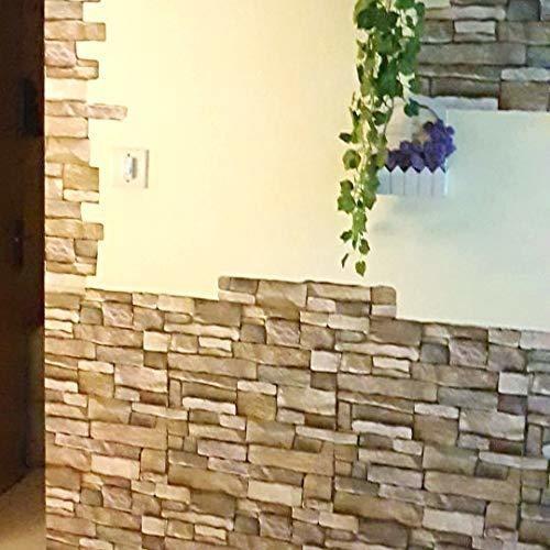 yenhome 17.7plg x 196plg papel tapiz de ladrillo 3d removibl