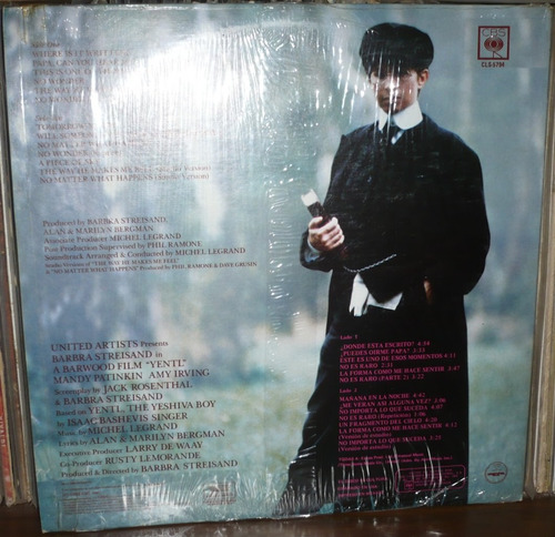 yentl lp soundtrack barbra streisand