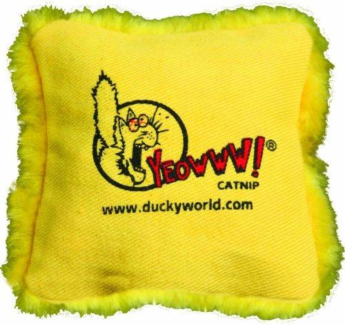 yeowww catnip pillows yellow single