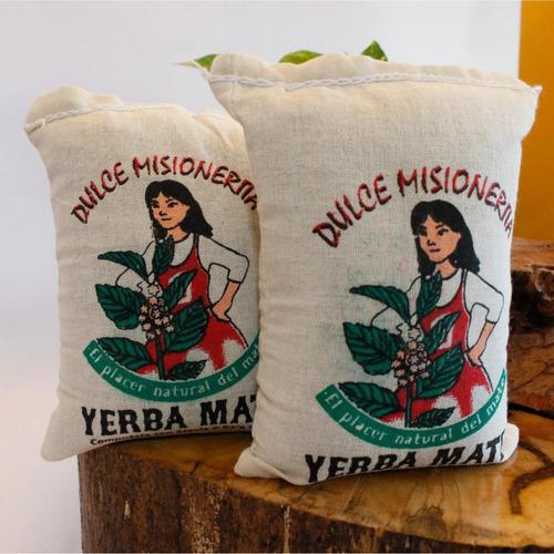 yerba mate con stevia x250grs.  dulce misionerita