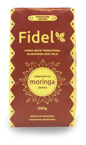 yerba mate  fidel  compuesta con moringa x 500g