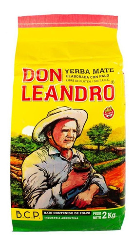 yerba mate leandro x 2 kilos