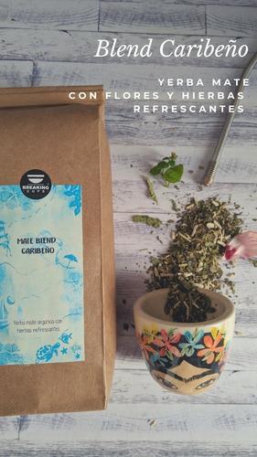 yerba mate organica: coco dulce, especiada chai, hierbas