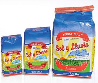 yerba mate sol y lluvia barbacua 12 paq de 1/2kg oferta