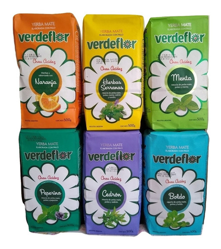 yerba mate verdeflor 500g pack de 6 envío gratis